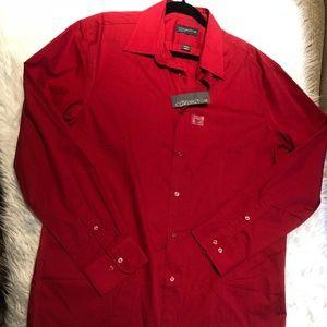 NWT Covington Mens L Classic Fit Dress Shirt